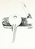 Cuchillo suizo y clave Imágenes de archivo libres de regalías