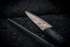 Cuchillo usado para el matadero Imagenes de archivo