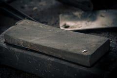 Cuchillo usado para el matadero Imágenes de archivo libres de regalías
