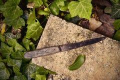 Cuchillo viejo imagen de archivo