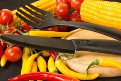 Cuchillo y bifurcación Imagen de archivo libre de regalías
