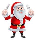 Cuchillo y bifurcación Papá Noel Imagenes de archivo
