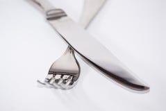 Cuchillo y cuchara Imágenes de archivo libres de regalías