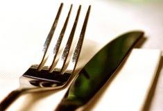 Cuchillo y fork Foto de archivo libre de regalías