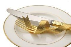 Cuchillo y fork. Imagen de archivo libre de regalías