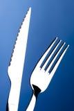 Cuchillo y fork Fotografía de archivo libre de regalías