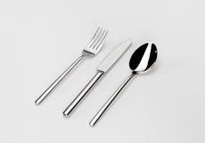 Cuchillo y fork de la cuchara Fotos de archivo libres de regalías