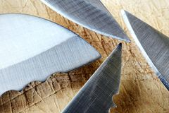 Cuchillos, cuchillas foto de archivo libre de regalías