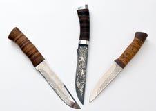 Cuchillos de caza de Rusia Imagenes de archivo