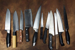 Cuchillos de cocina Imagen de archivo libre de regalías