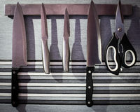 Cuchillos de cocina Fotos de archivo libres de regalías