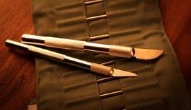 Cuchillos de la afición Fotografía de archivo libre de regalías