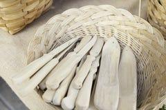 Cuchillos de madera Fotos de archivo