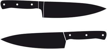 Cuchillos del cocinero Fotografía de archivo libre de regalías