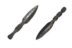 cuchillos Mano-forjados Imagen de archivo libre de regalías