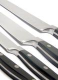 Cuchillos negros Imágenes de archivo libres de regalías