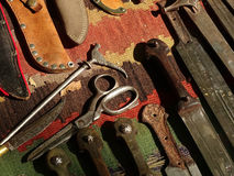 Cuchillos viejos Fotos de archivo libres de regalías