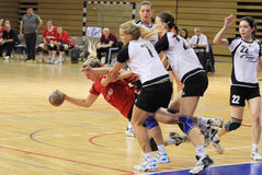 cuchnący handball Fotografia Stock