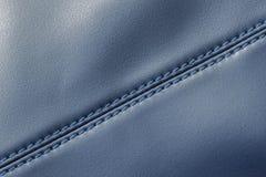 Cucia sui dettagli della borsa di cuoio delle donne Immagine Stock