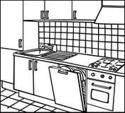 Cucina illustrazione vettoriale