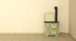 cucina 50s Immagini Stock