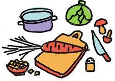 Cucina illustrazione di stock