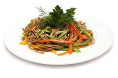 Cucina asiatica - tagliatelle del udon Immagini Stock