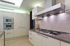 Cucina bianca Fotografia Stock