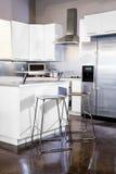 Cucina bianca Fotografie Stock Libere da Diritti
