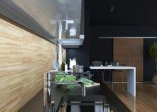 Cucina che pranza stile moderno Illustrazione Vettoriale