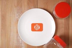 Cucina che prepara fare le merci festive cinesi Immagine Stock Libera da Diritti