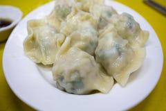 Cucina cinese, alimento principale fatto a mano e nordico, carne di maiale che farcisce, gnocchi immagine stock libera da diritti