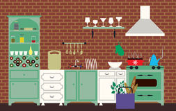 Cucina d'annata Fotografia Stock