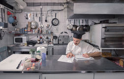 Cucina d'ordinazione delle carte da lettere del cuoco unico Immagine Stock