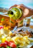 Cucina dei frutti di mare Fotografia Stock
