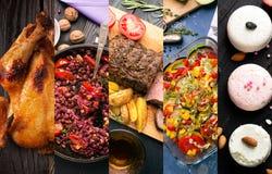 Cucina dei paesi differenti Fotografia Stock Libera da Diritti