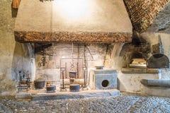 Cucina del castello Fotografie Stock