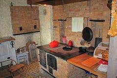 Cucina del cottage del paese Immagini Stock