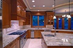 Cucina del granito Fotografie Stock