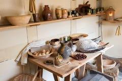 Cucina del paese anziano Immagini Stock