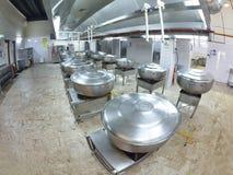 Cucina del ristorante Fotografie Stock