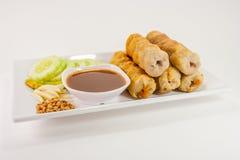 Cucina del Vietnam su fondo bianco Fotografie Stock Libere da Diritti