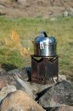 Cucina dell'accampamento Fotografia Stock Libera da Diritti
