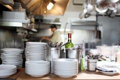 Cucina dell'acciaio inossidabile Fotografia Stock