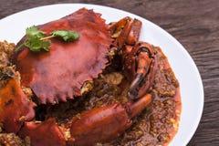 Cucina dell'Asia del granchio dei peperoncini rossi Immagine Stock