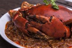 Cucina dell'Asia del granchio dei peperoncini rossi Fotografia Stock