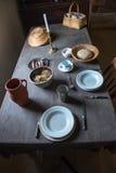 Cucina dell'azienda agricola del paese anziano, nostalgia Fotografia Stock Libera da Diritti