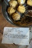 Cucina dell'azienda agricola del paese, ricetta del Flatbread Fotografie Stock Libere da Diritti