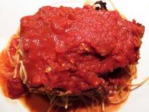 Cucina dell'italiano di Parmigiana della melanzana Fotografia Stock