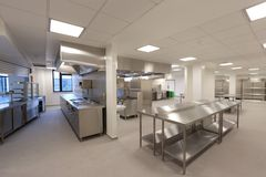 Cucina dell'ospedale Immagine Stock Libera da Diritti
